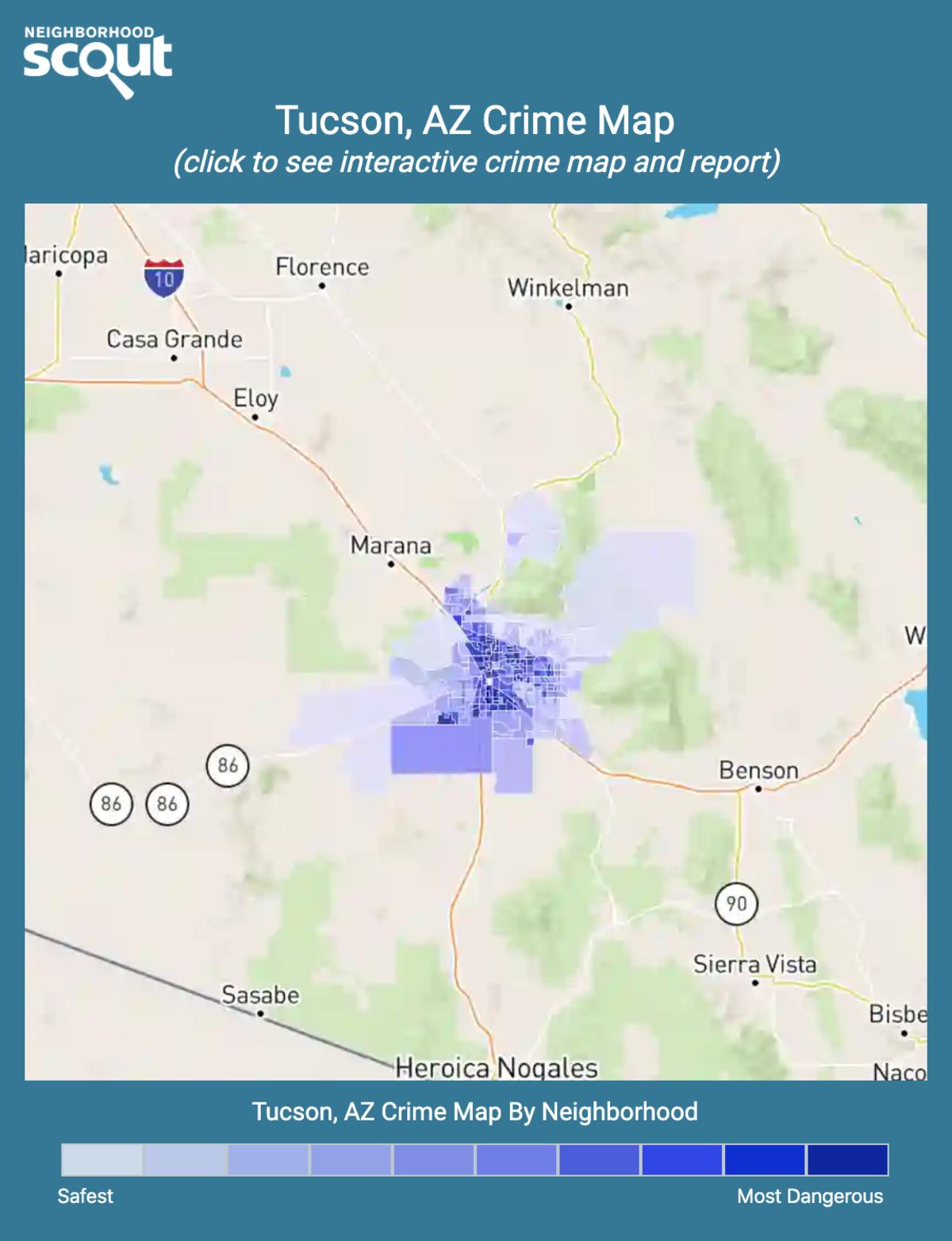 Tucson, Arizona crime map