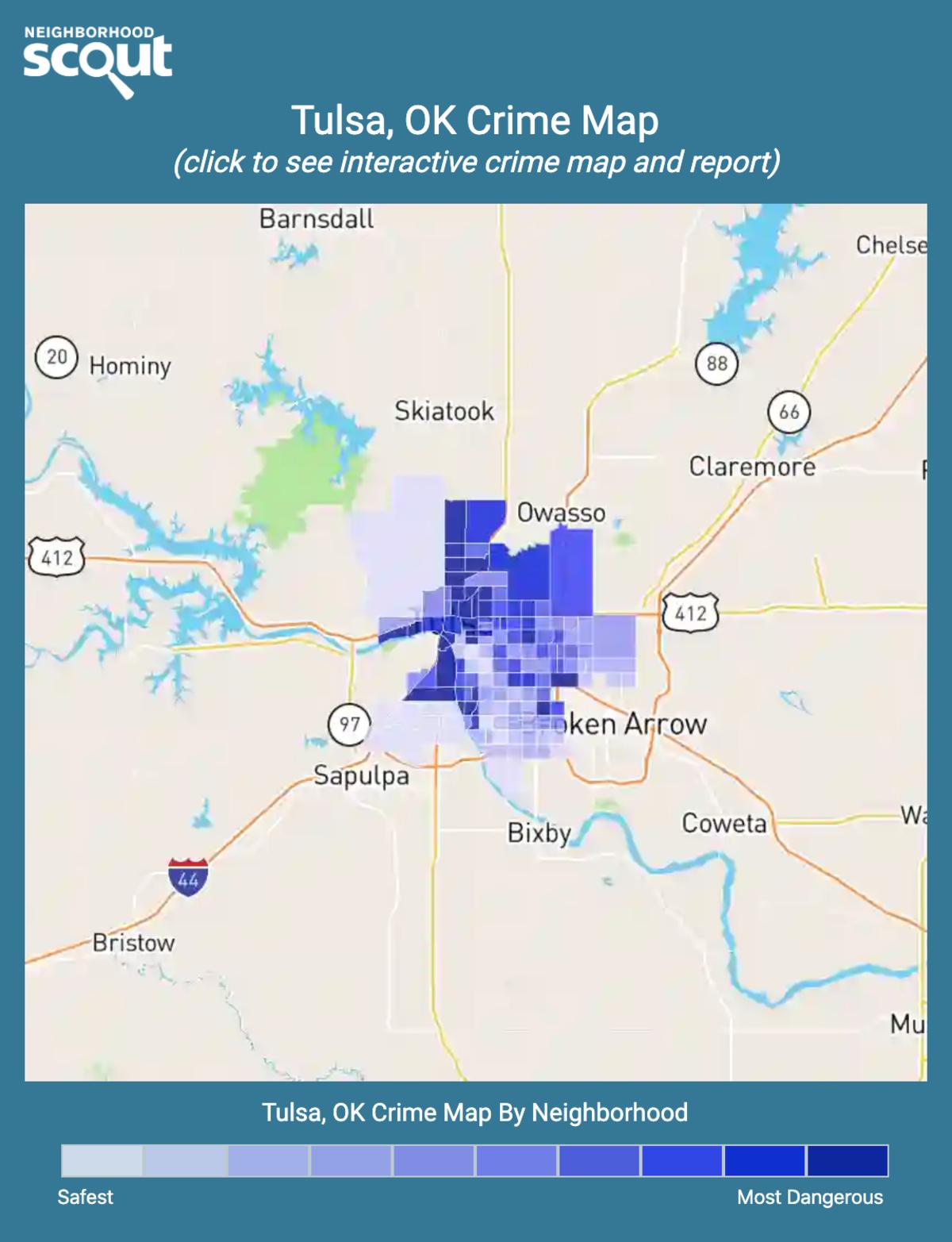 Tulsa, Oklahoma crime map