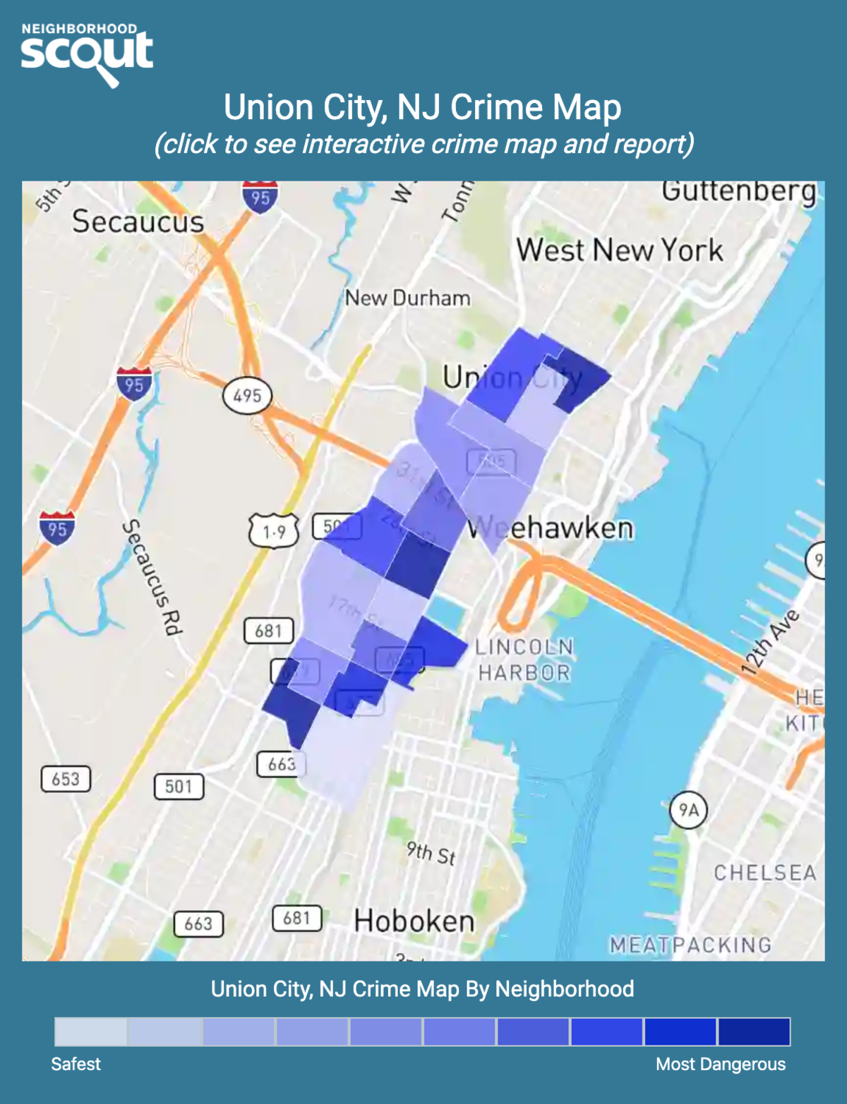 Union City, New Jersey crime map