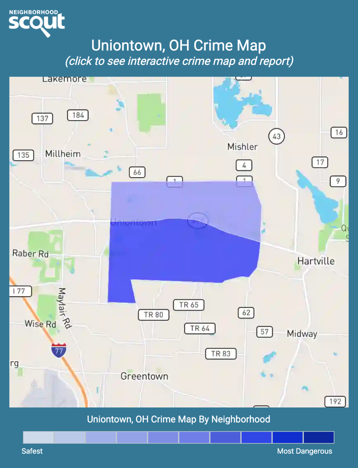 Uniontown, Ohio crime map