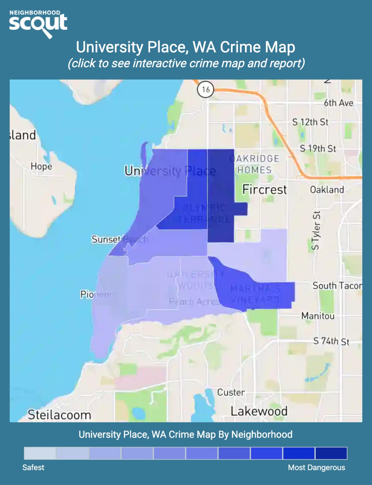 University Place, Washington crime map