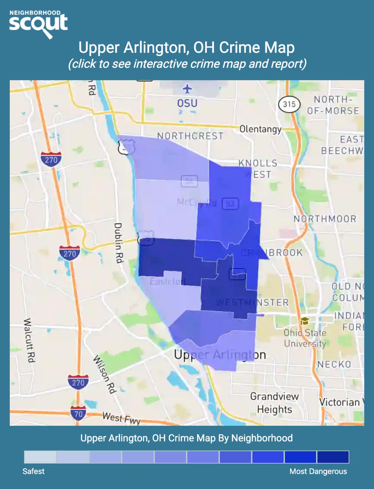 Upper Arlington, Ohio crime map