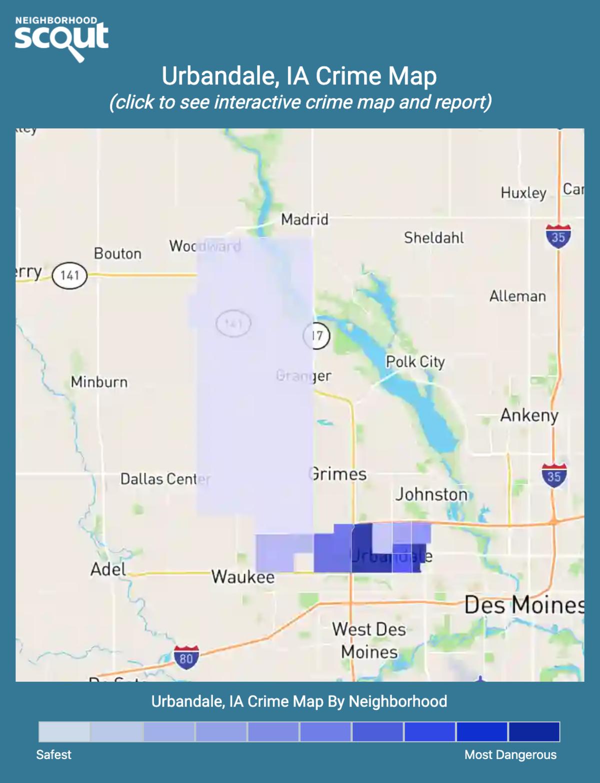 Urbandale, Iowa crime map