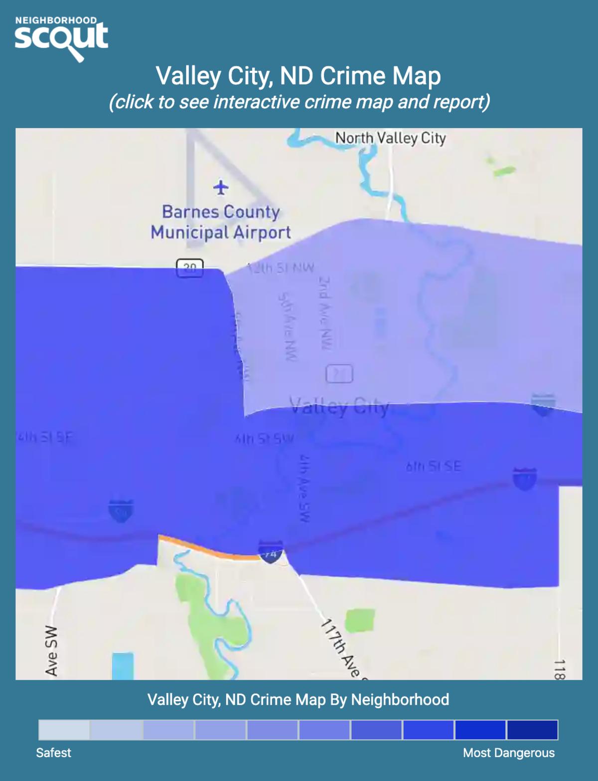 Valley City, North Dakota crime map