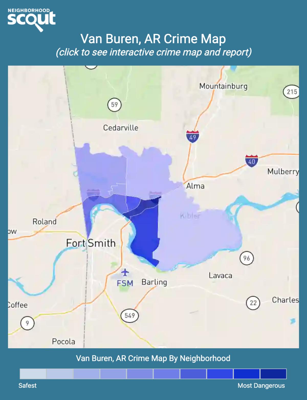 Van Buren, Arkansas crime map