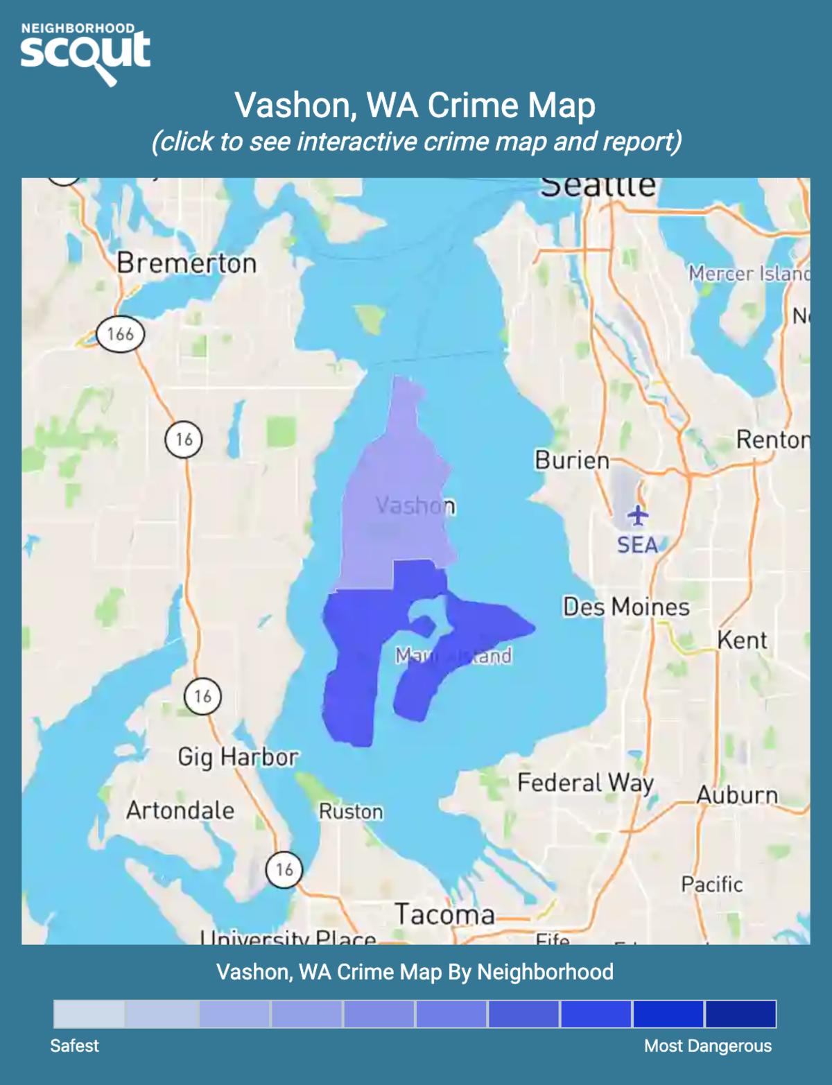 Vashon, Washington crime map