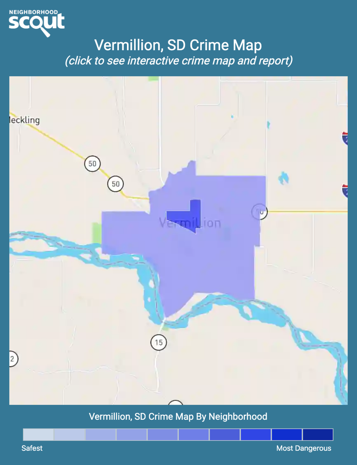 Vermillion, South Dakota crime map