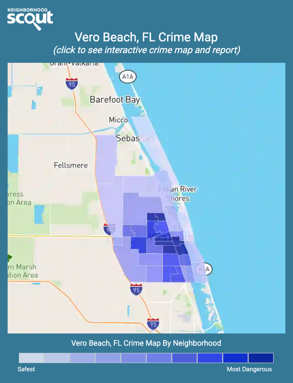 Vero Beach, Florida crime map