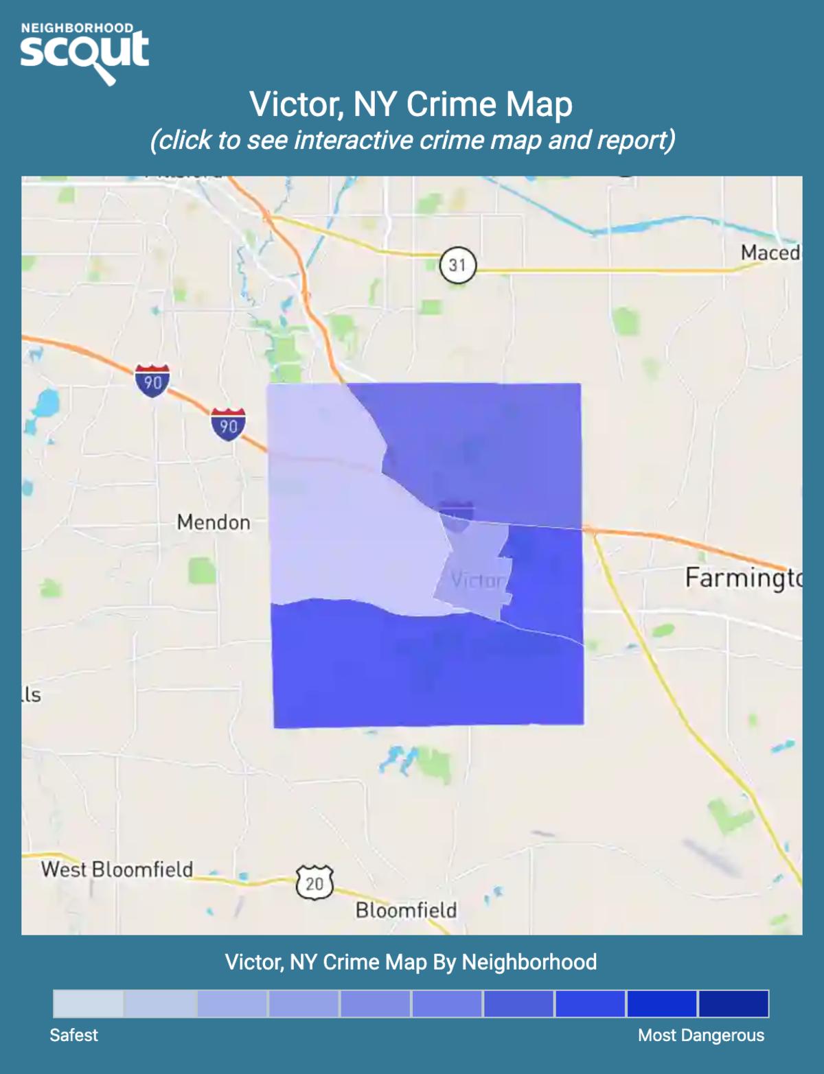 Victor, New York crime map