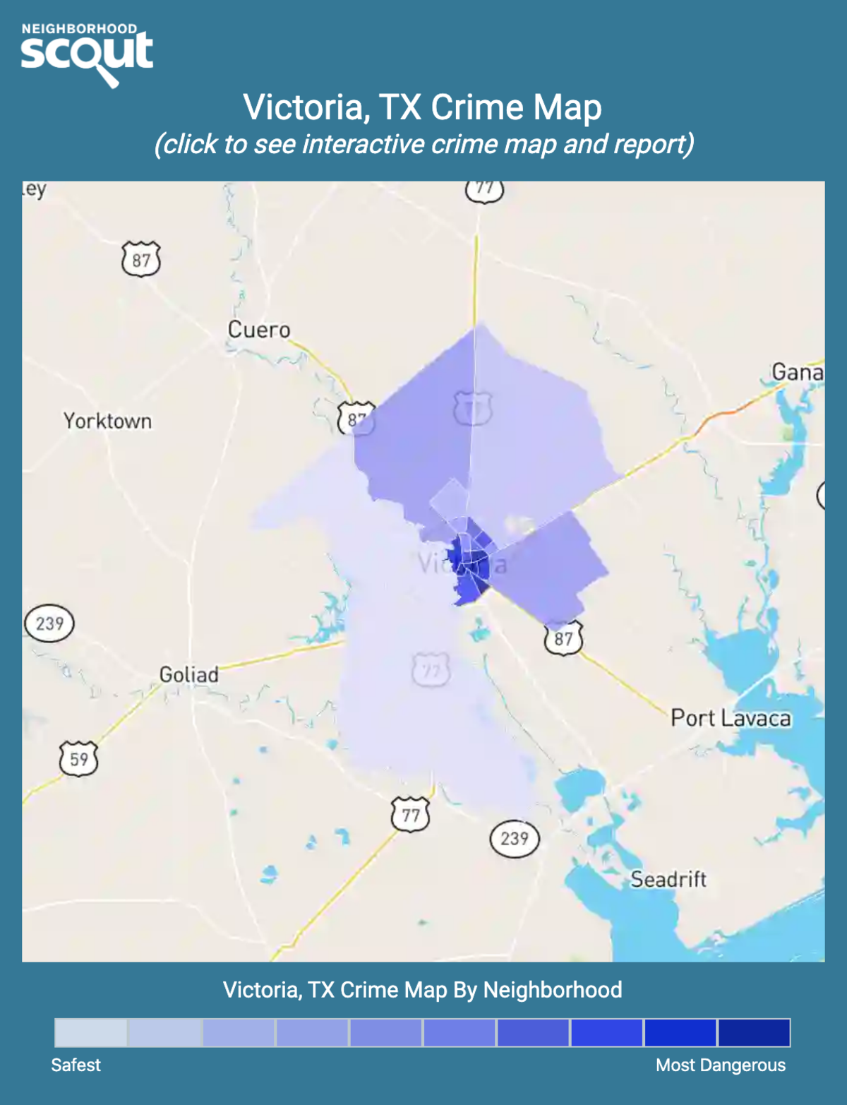 Victoria, Texas crime map