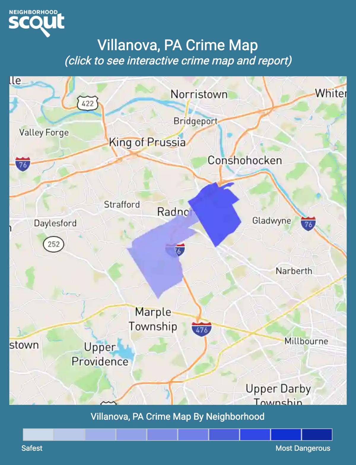 Villanova, Pennsylvania crime map