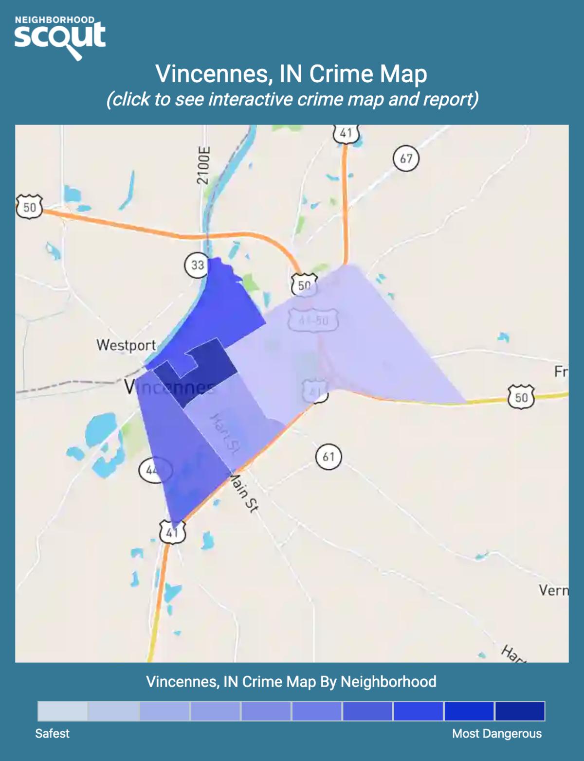 Vincennes, Indiana crime map
