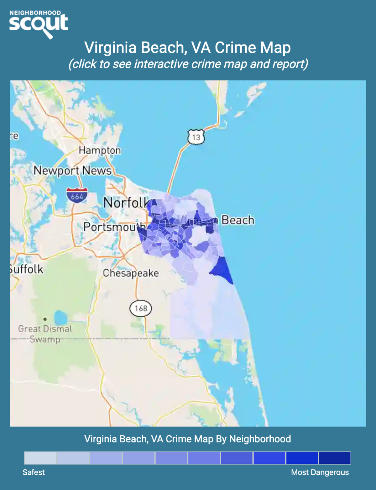 Virginia Beach, Virginia crime map