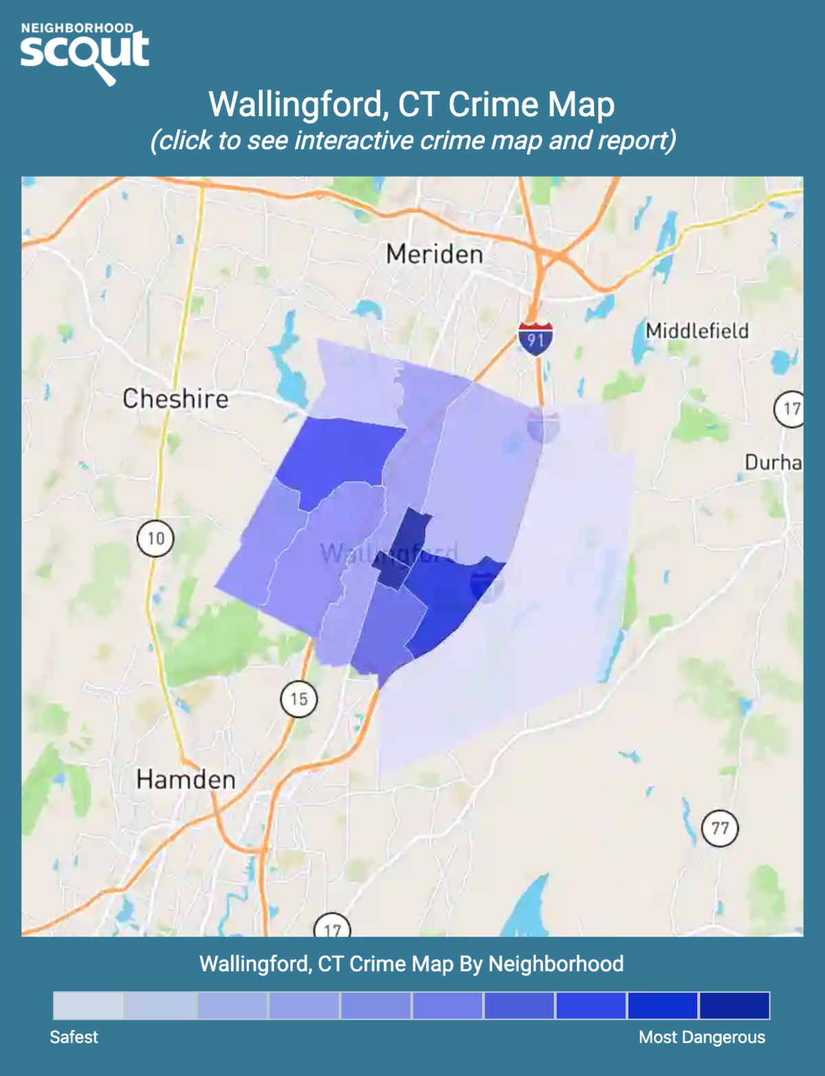 Wallingford, Connecticut crime map