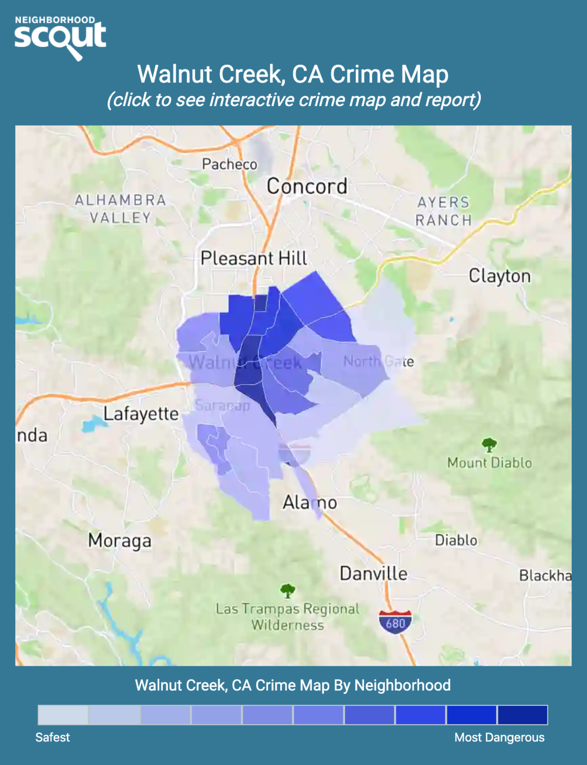 Walnut Creek, California crime map