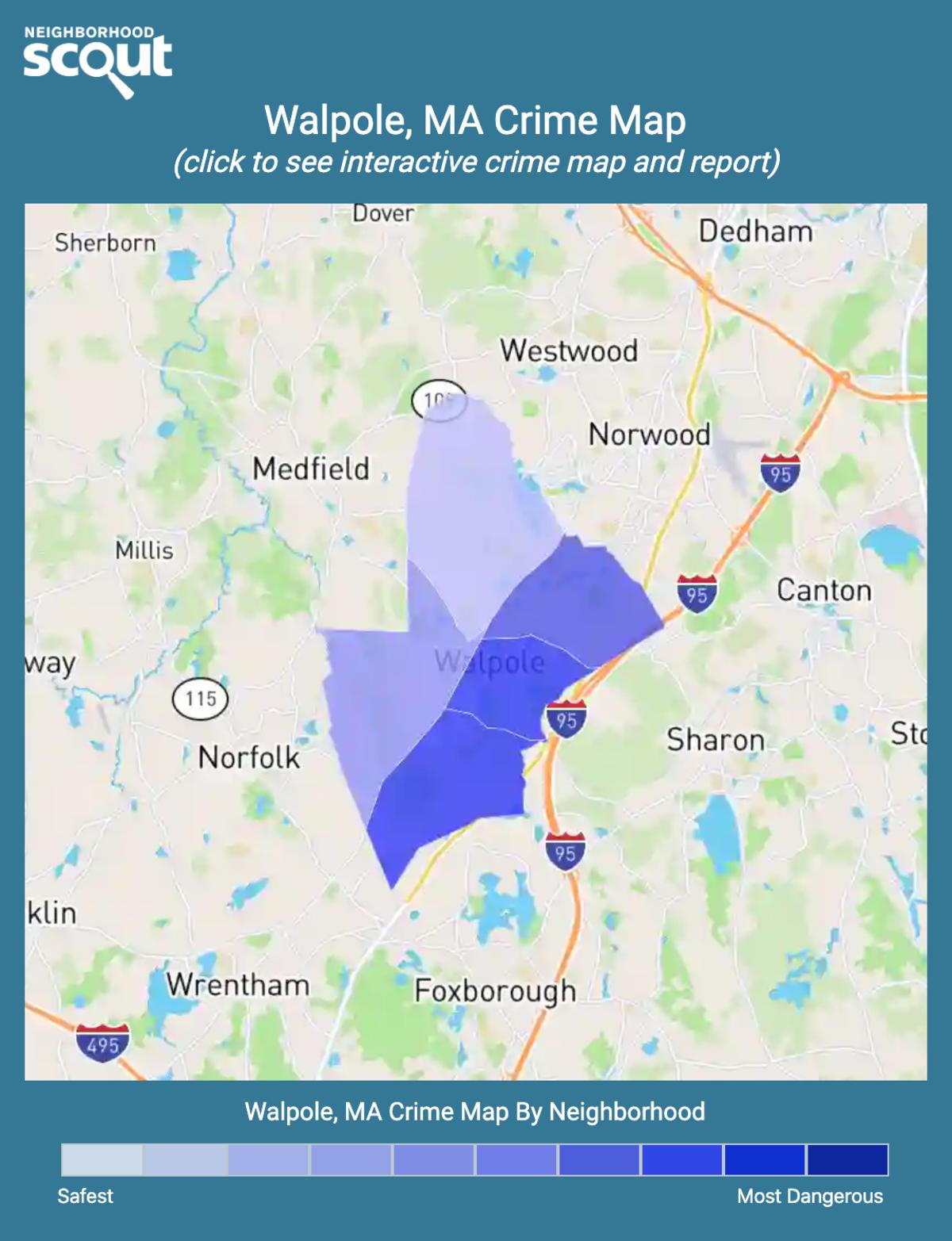 Walpole, Massachusetts crime map