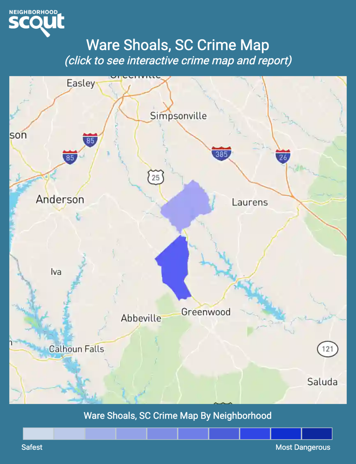 Ware Shoals, South Carolina crime map