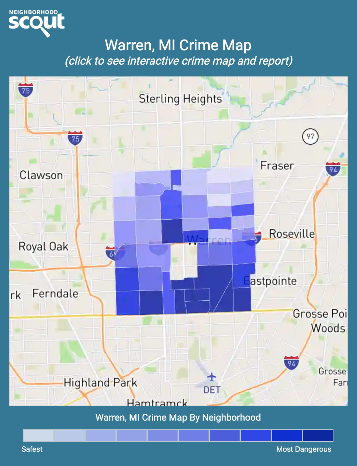 Warren, Michigan crime map