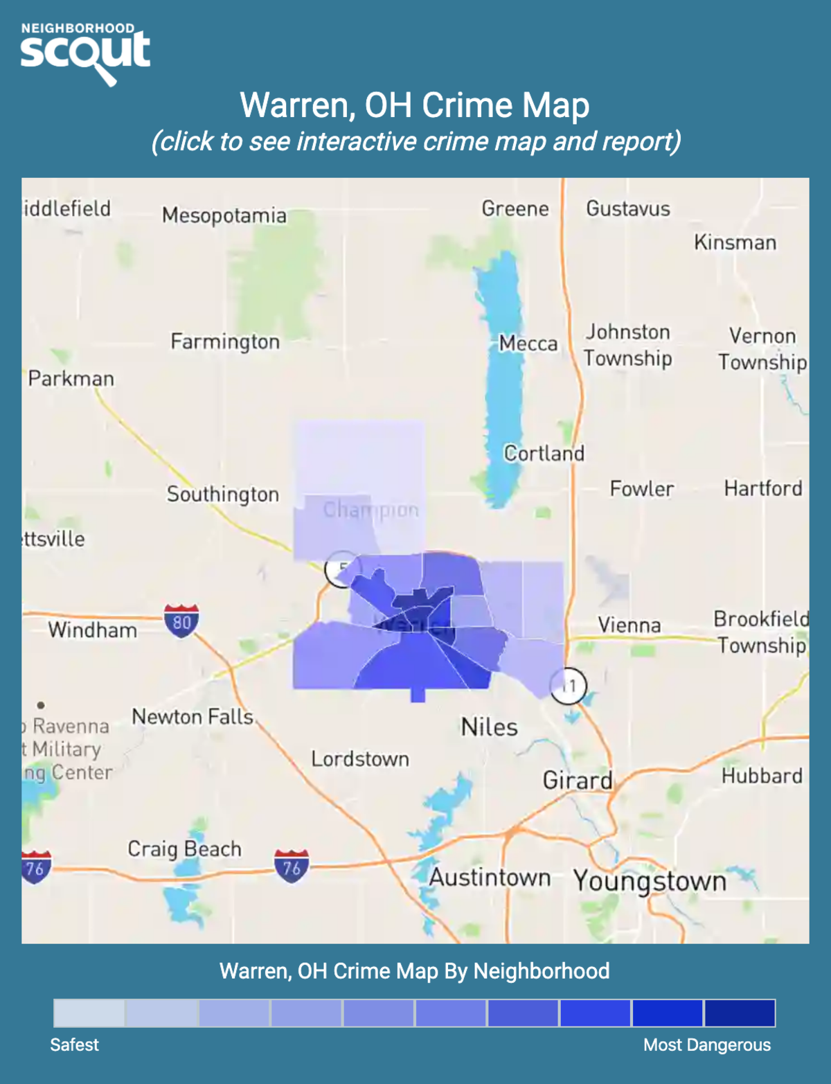 Warren, Ohio crime map