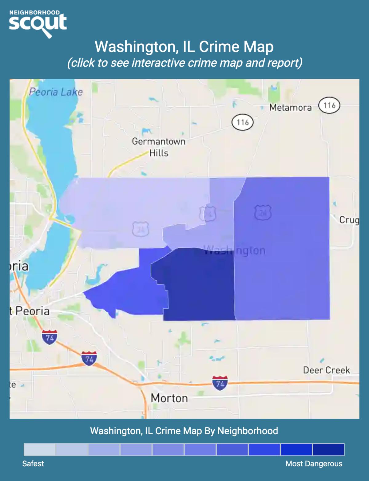 Washington, Illinois crime map