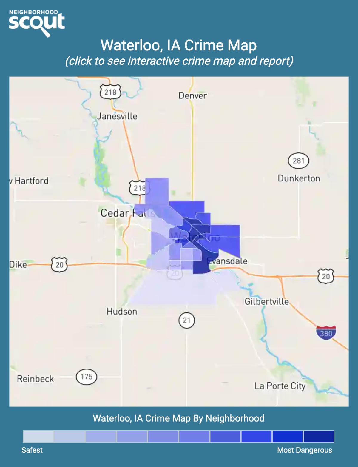 Waterloo, Iowa crime map