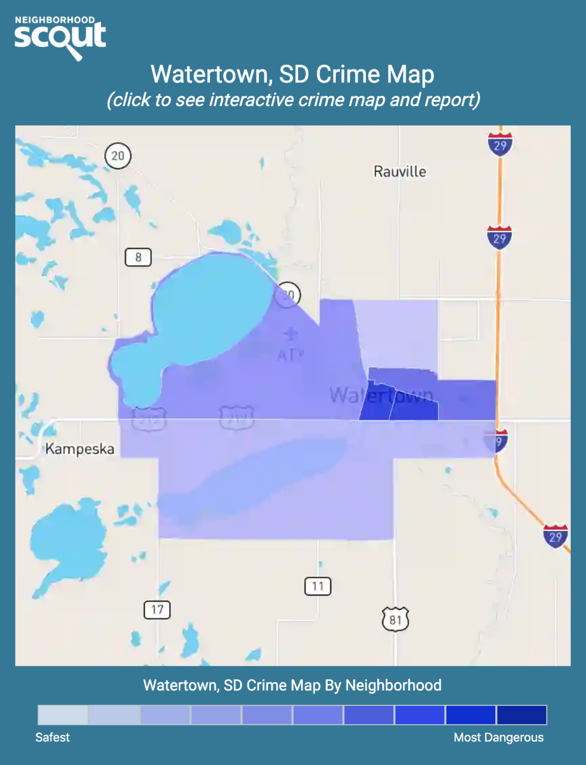 Watertown, South Dakota crime map