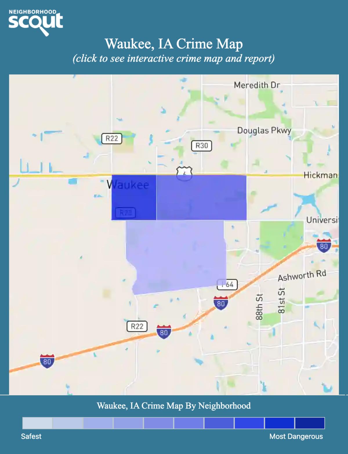 Waukee, Iowa crime map