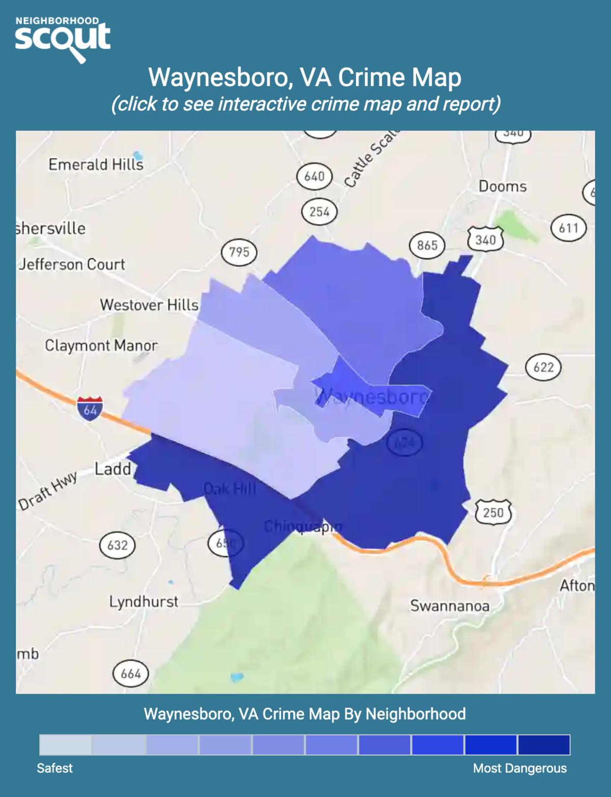 Waynesboro, Virginia crime map