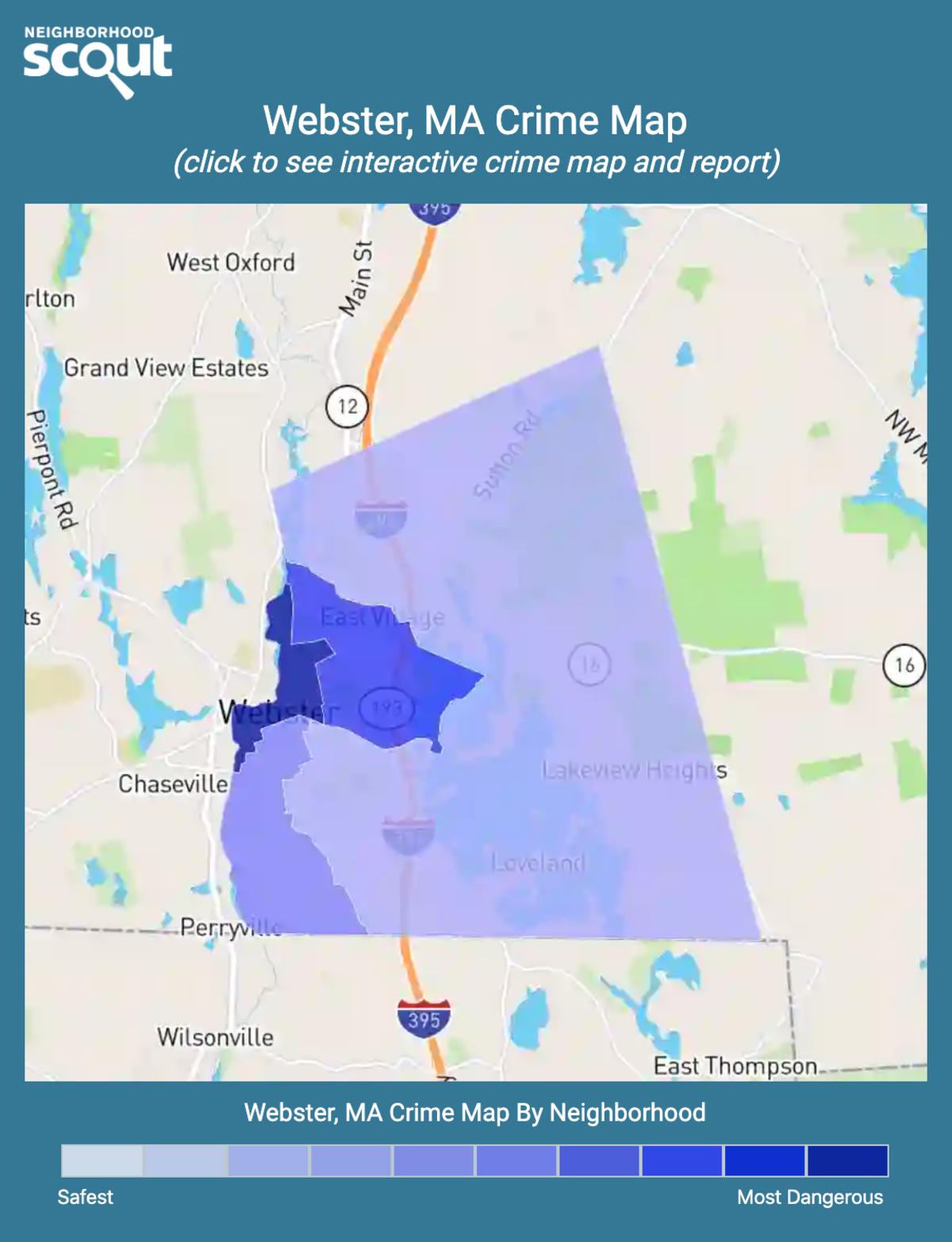 Webster, Massachusetts crime map