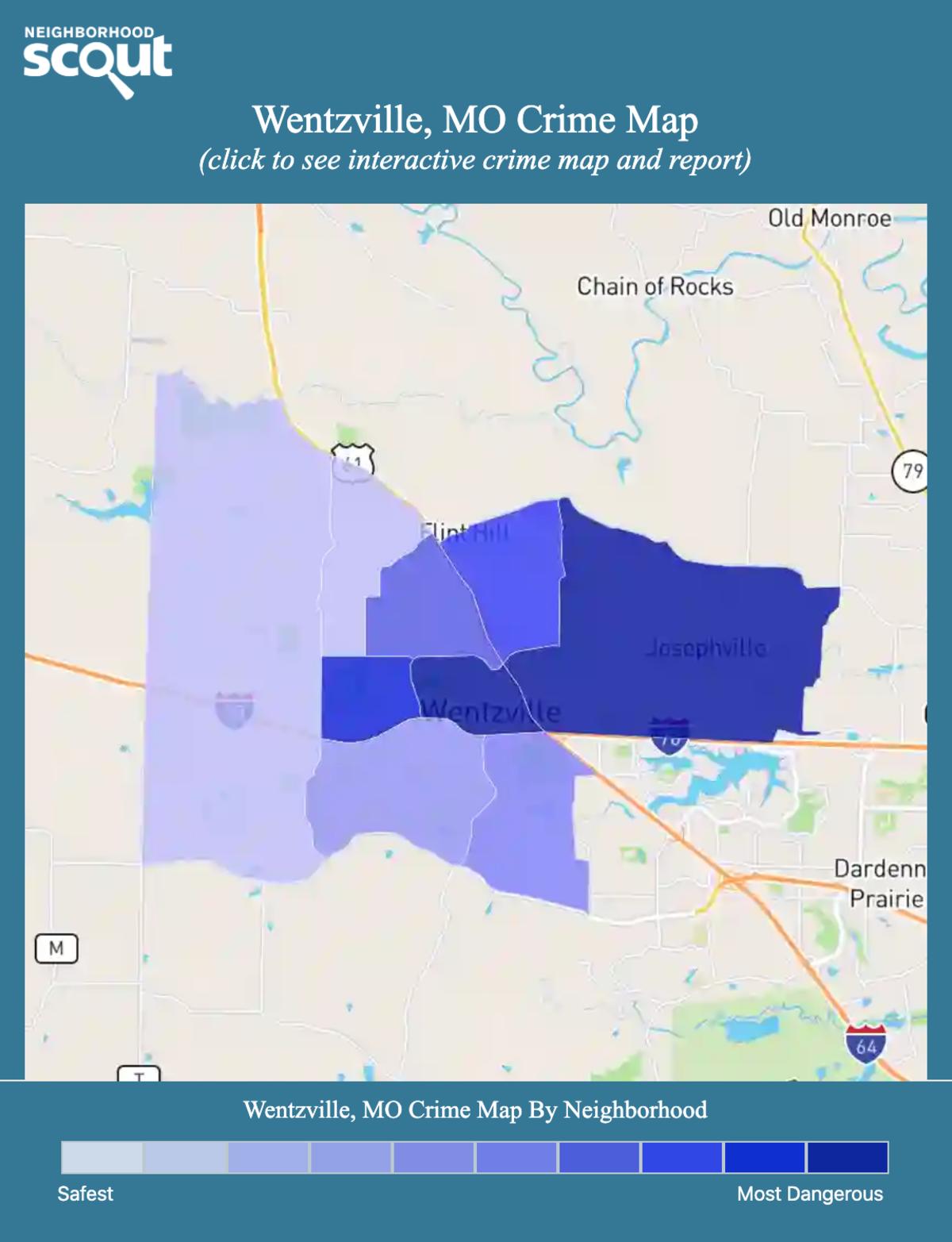 Wentzville, Missouri crime map