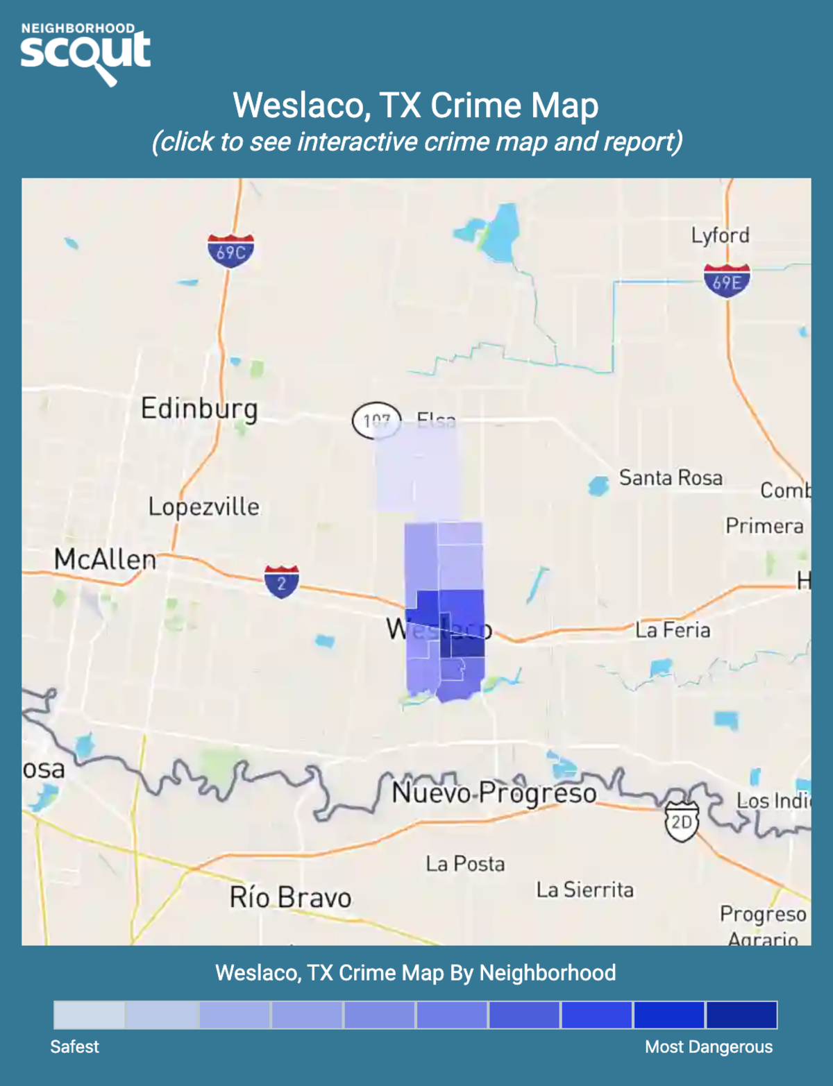 Weslaco, Texas crime map