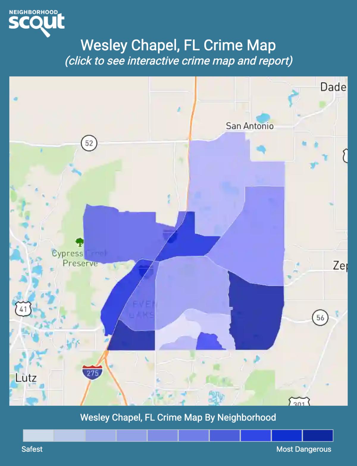 Wesley Chapel, Florida crime map