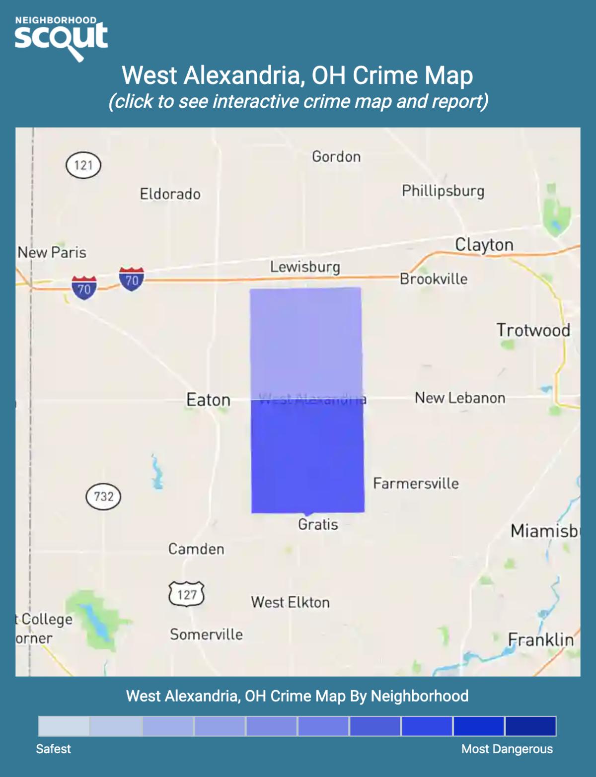 West Alexandria, Ohio crime map