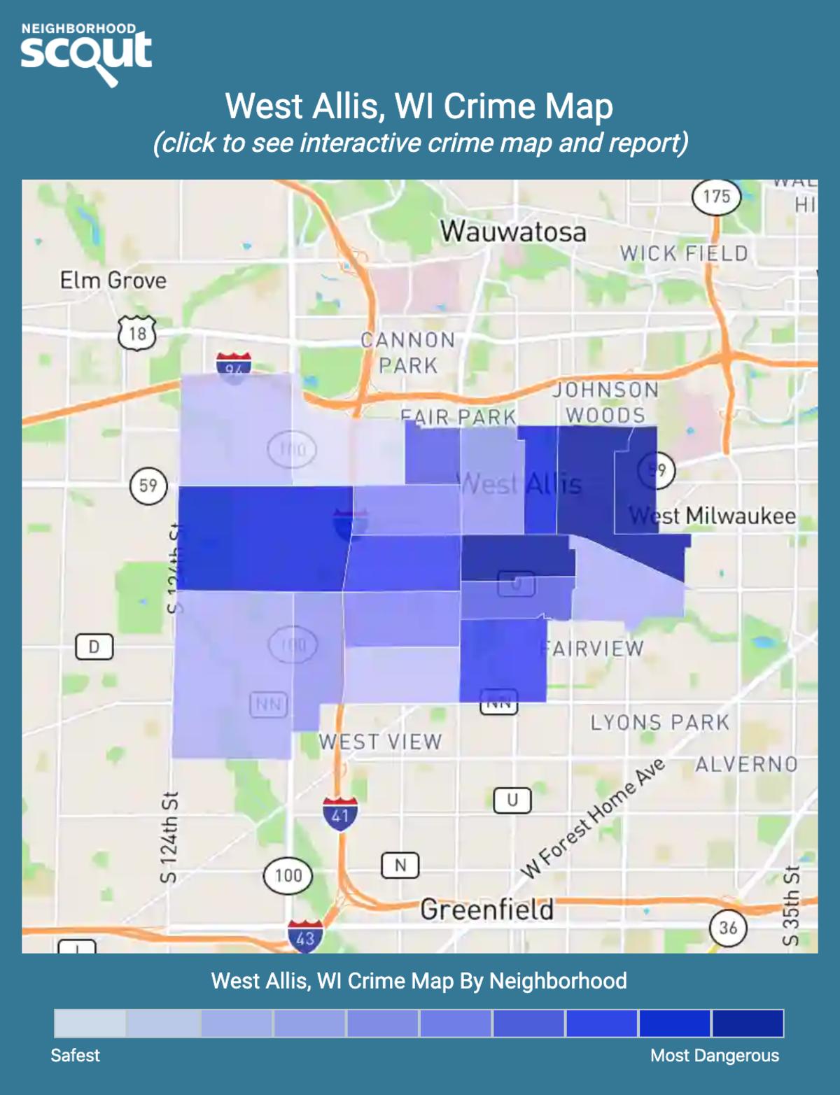 West Allis, Wisconsin crime map