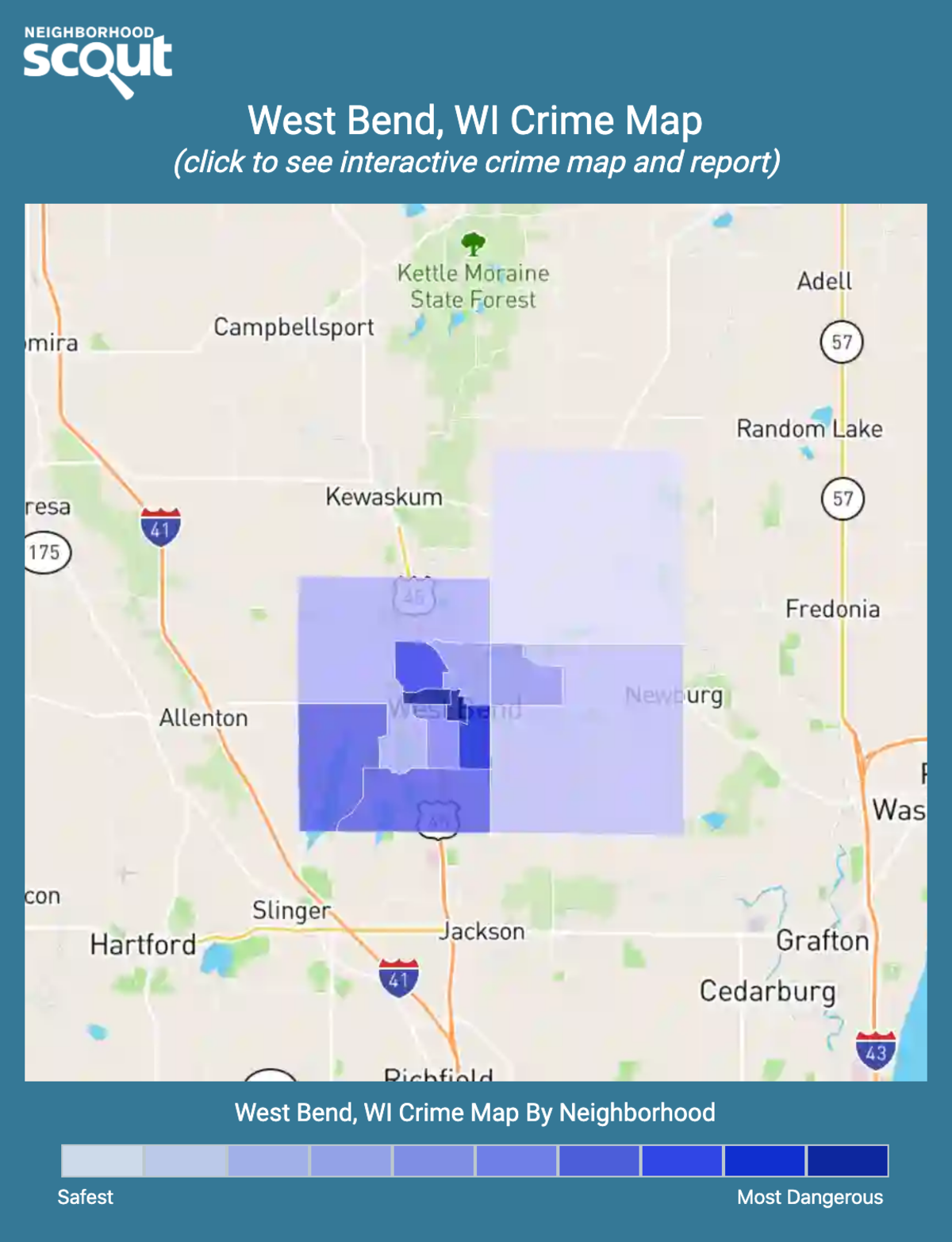 West Bend, Wisconsin crime map