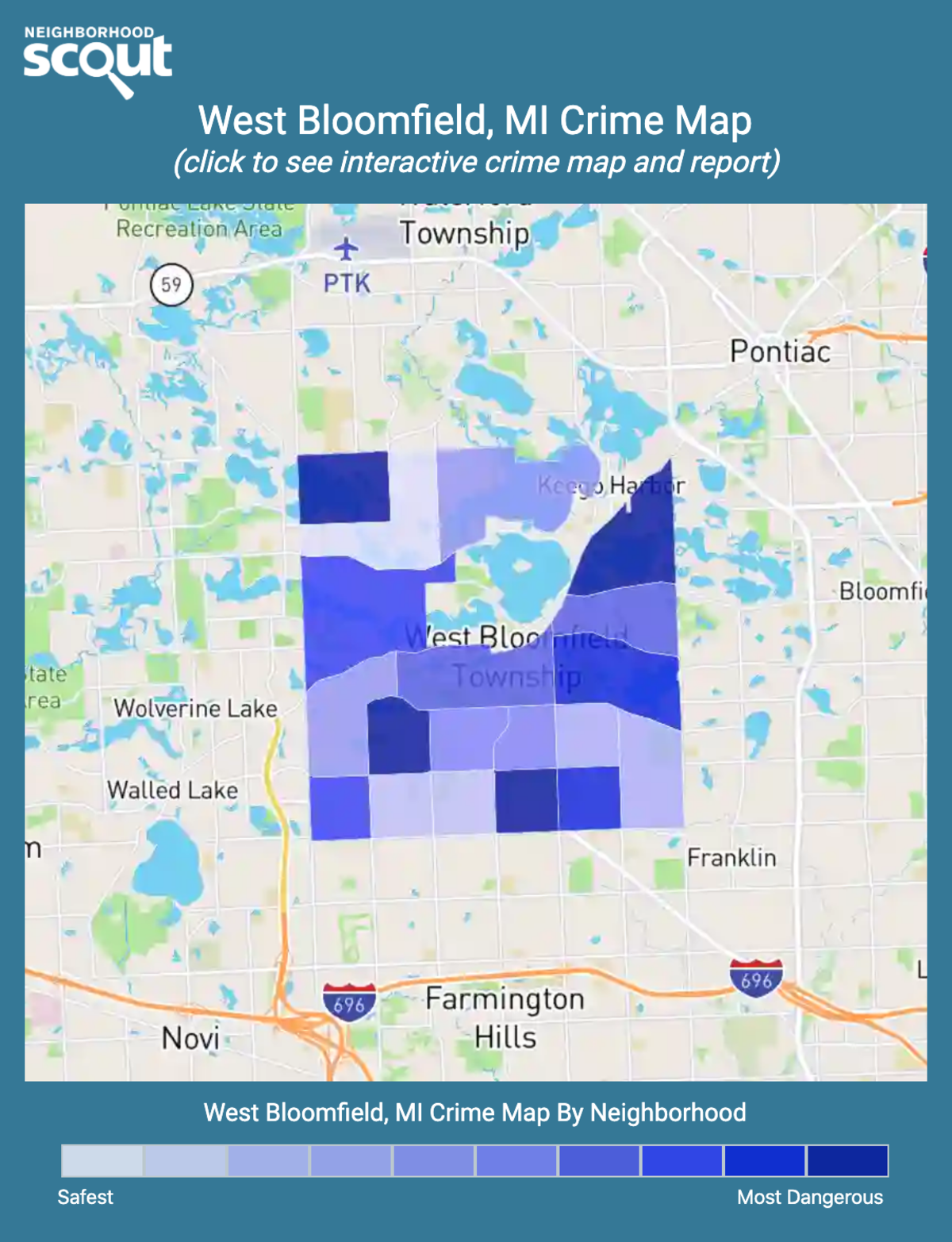 West Bloomfield, Michigan crime map
