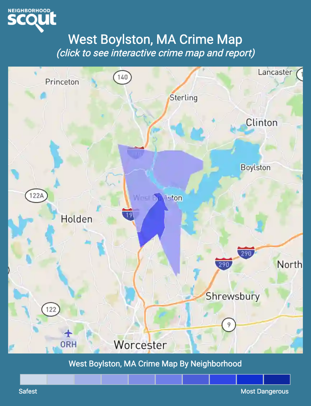 West Boylston, Massachusetts crime map