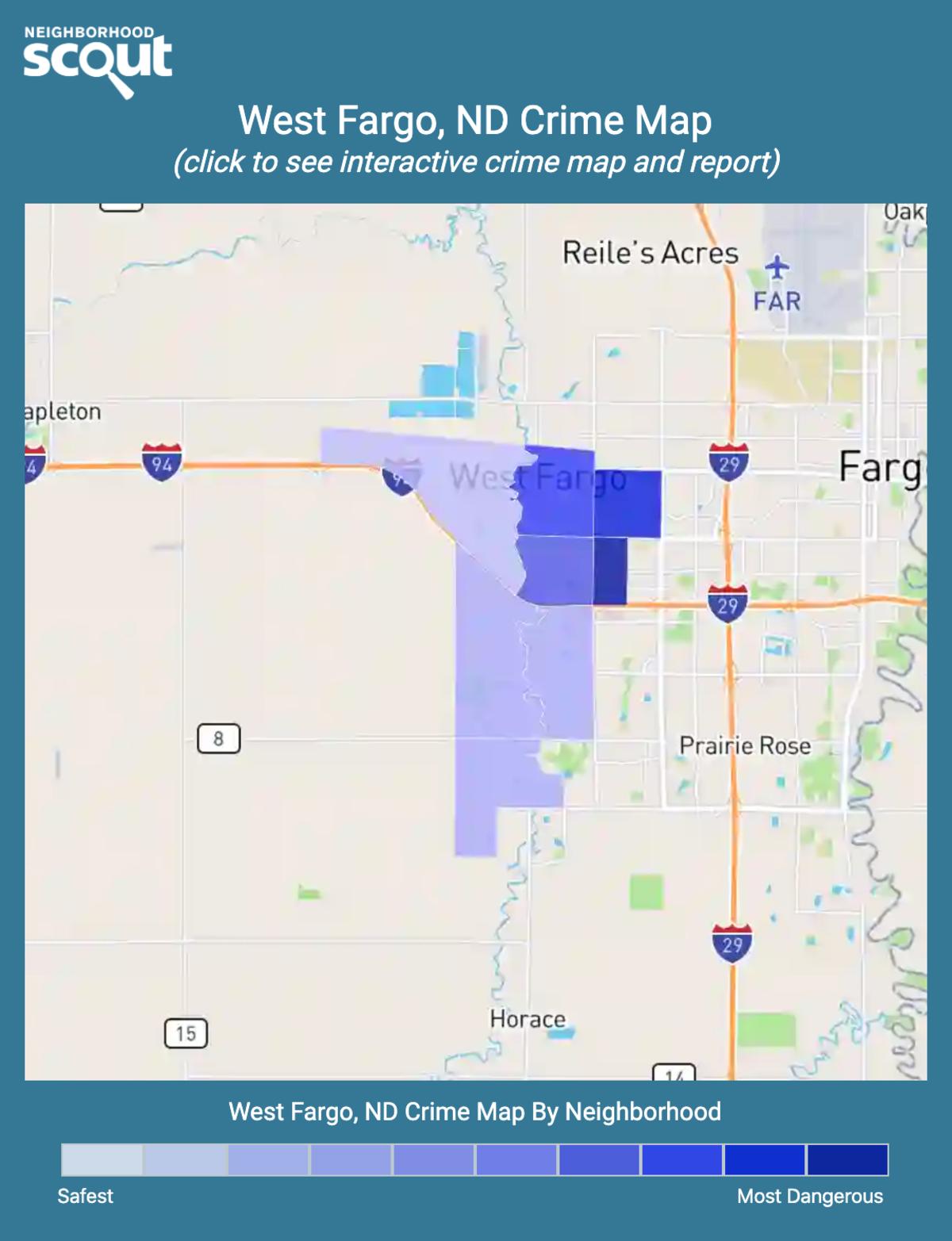 West Fargo, North Dakota crime map