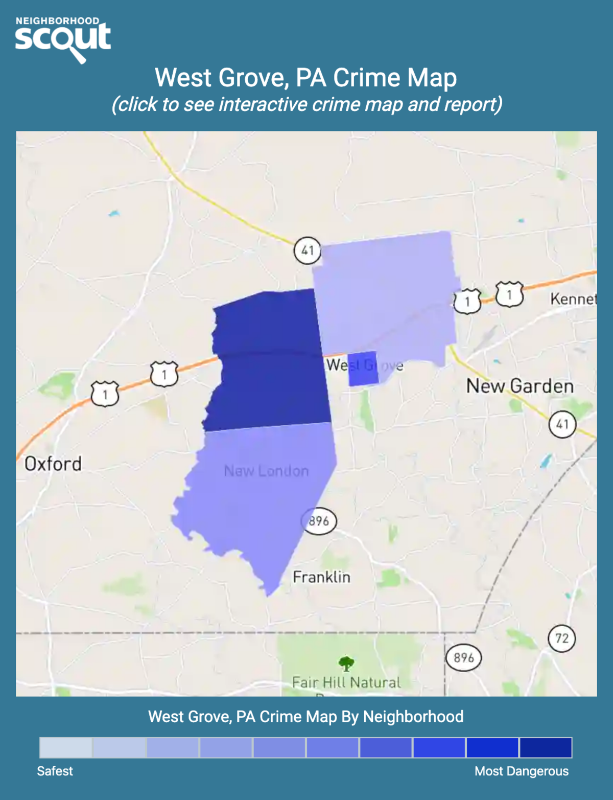 West Grove, Pennsylvania crime map