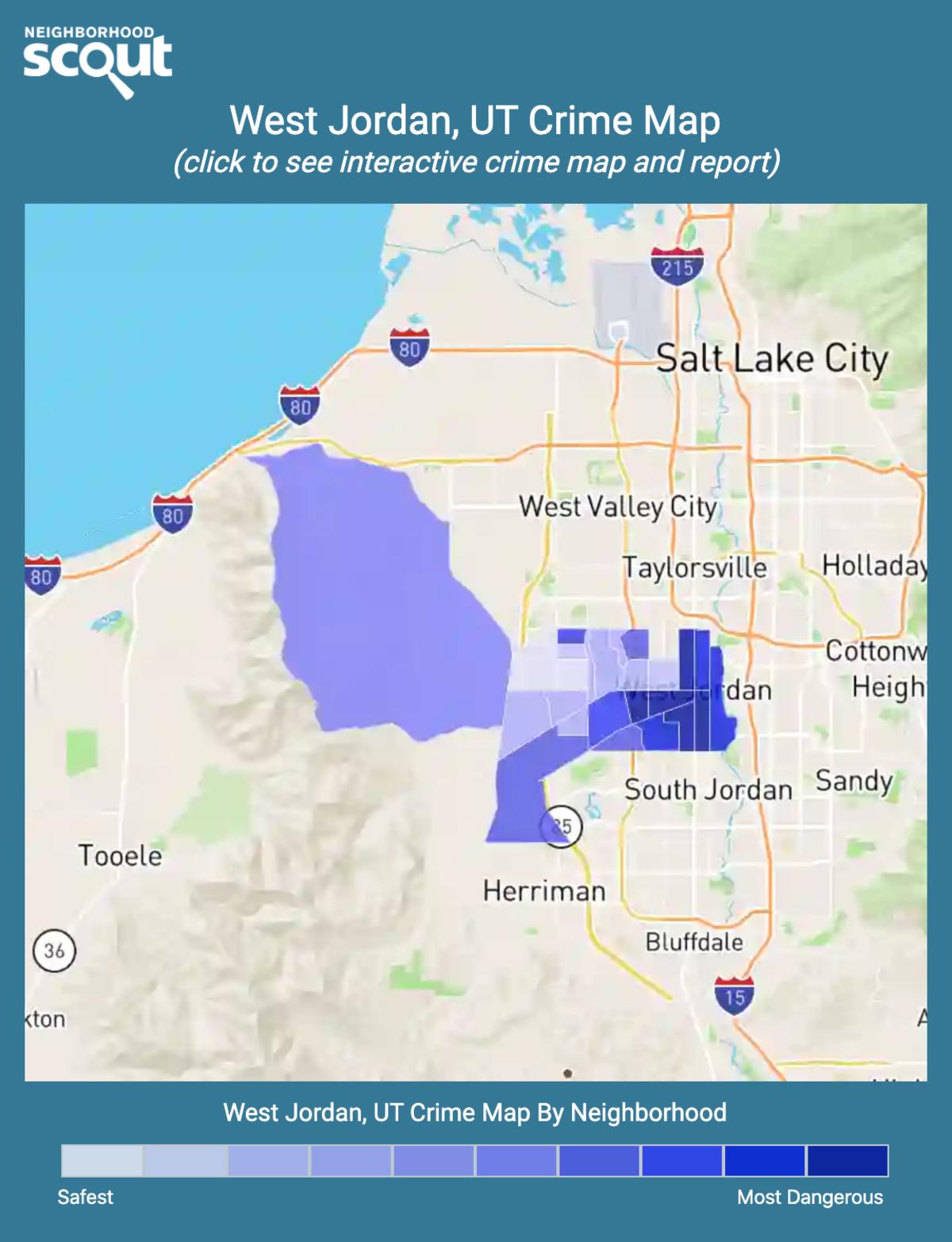 West Jordan, Utah crime map