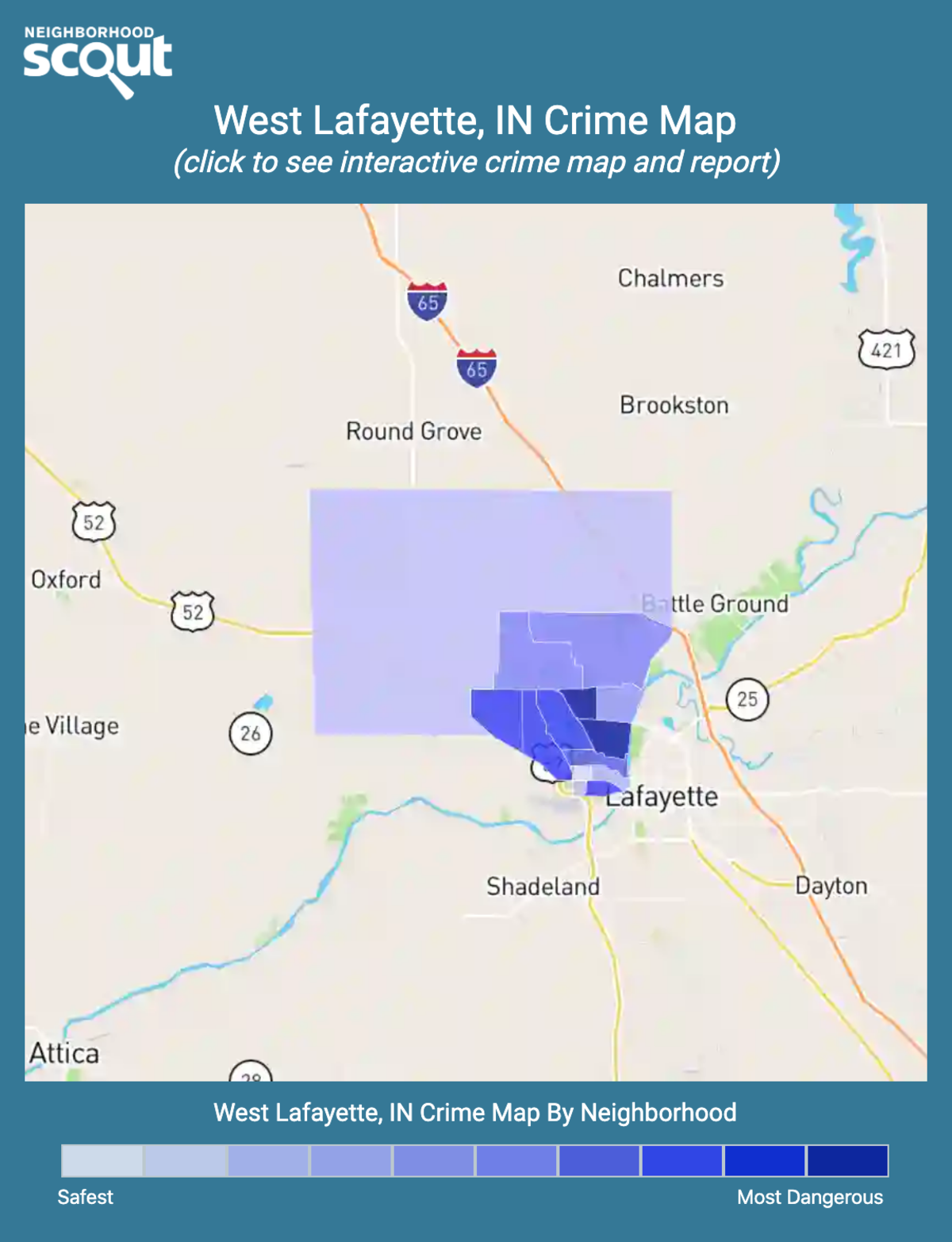 West Lafayette, Indiana crime map