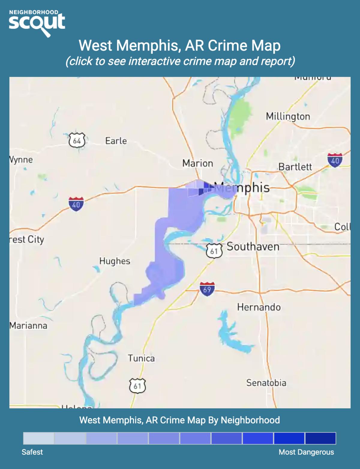 West Memphis, Arkansas crime map