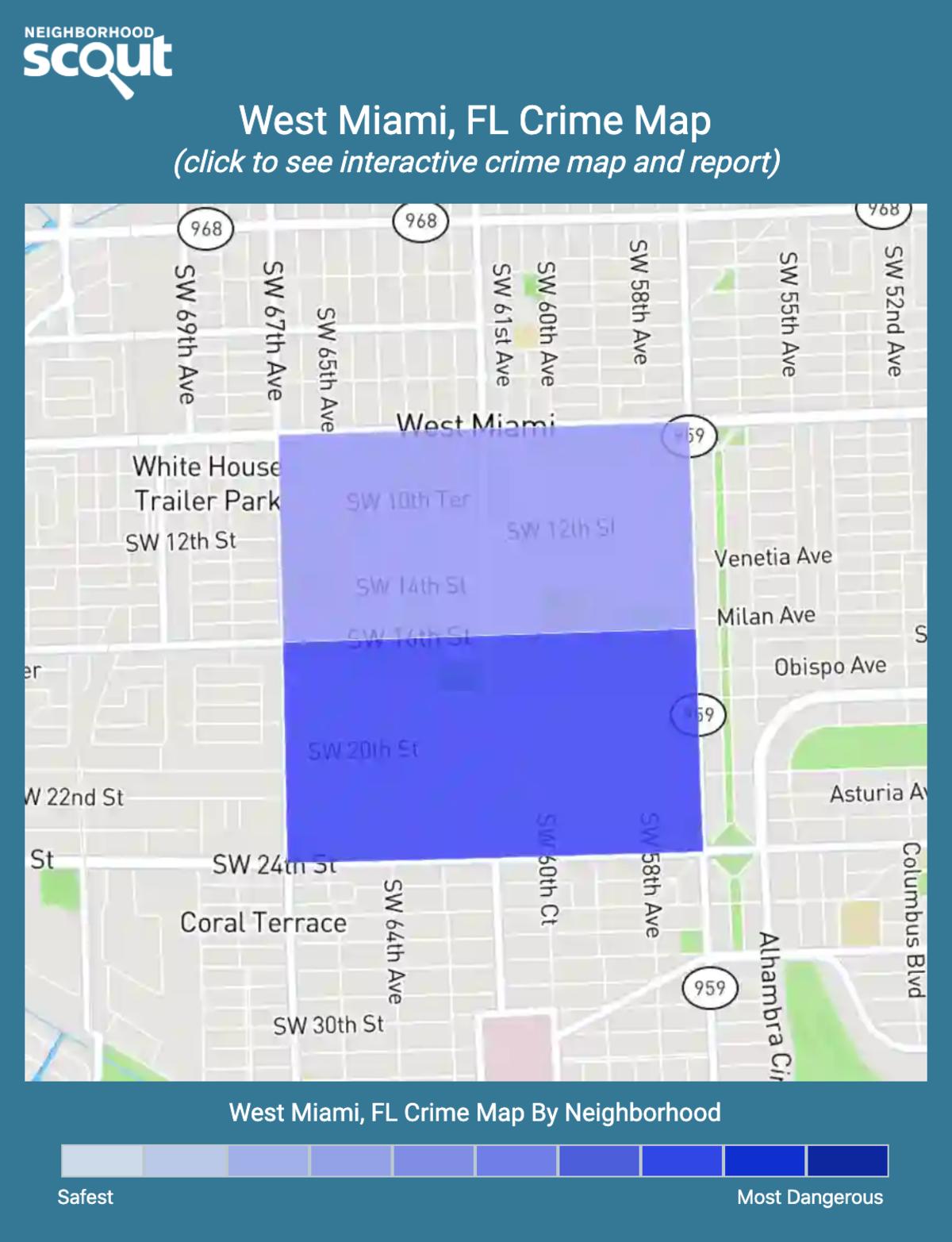 West Miami, Florida crime map