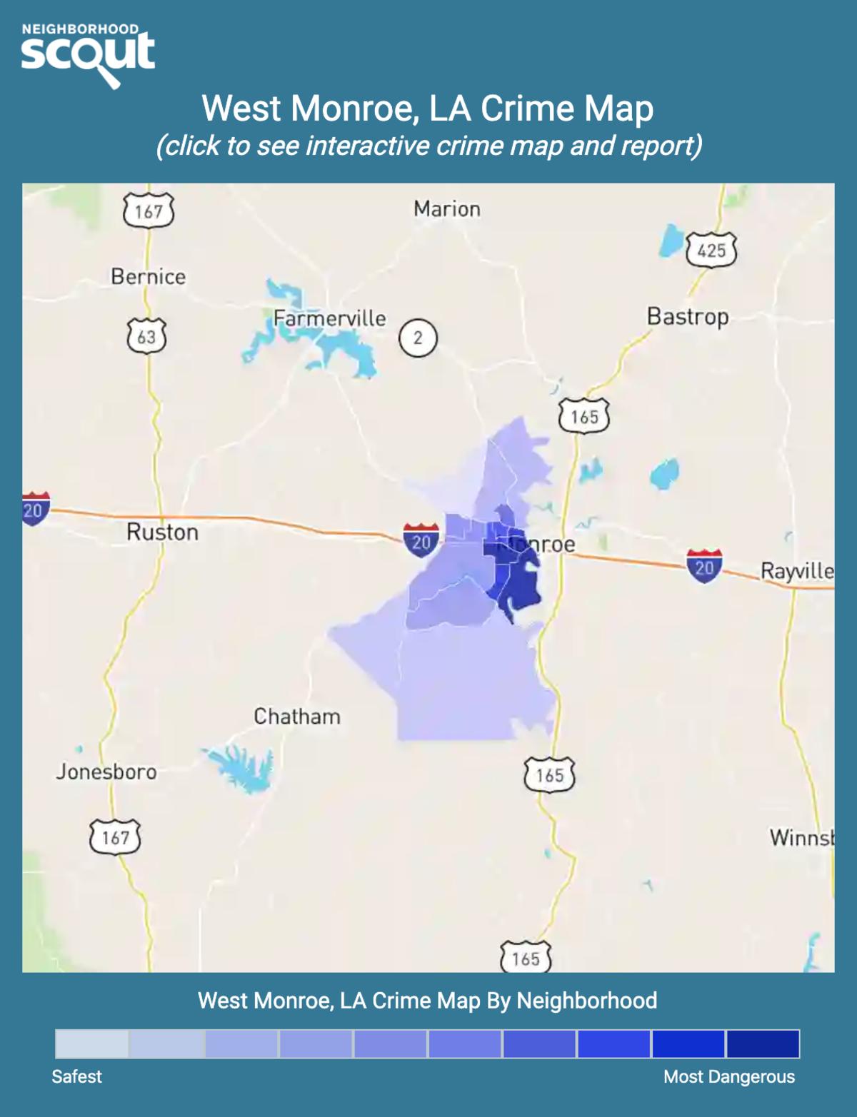 West Monroe, Louisiana crime map
