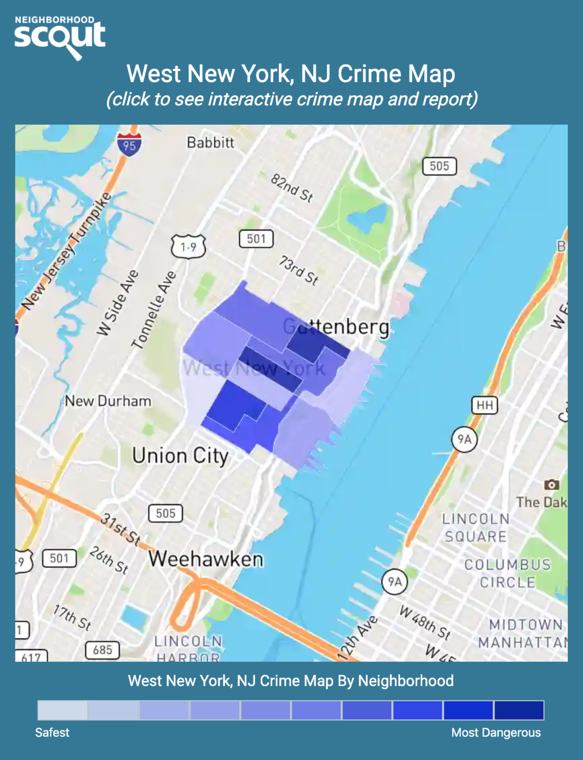 West New York, New Jersey crime map