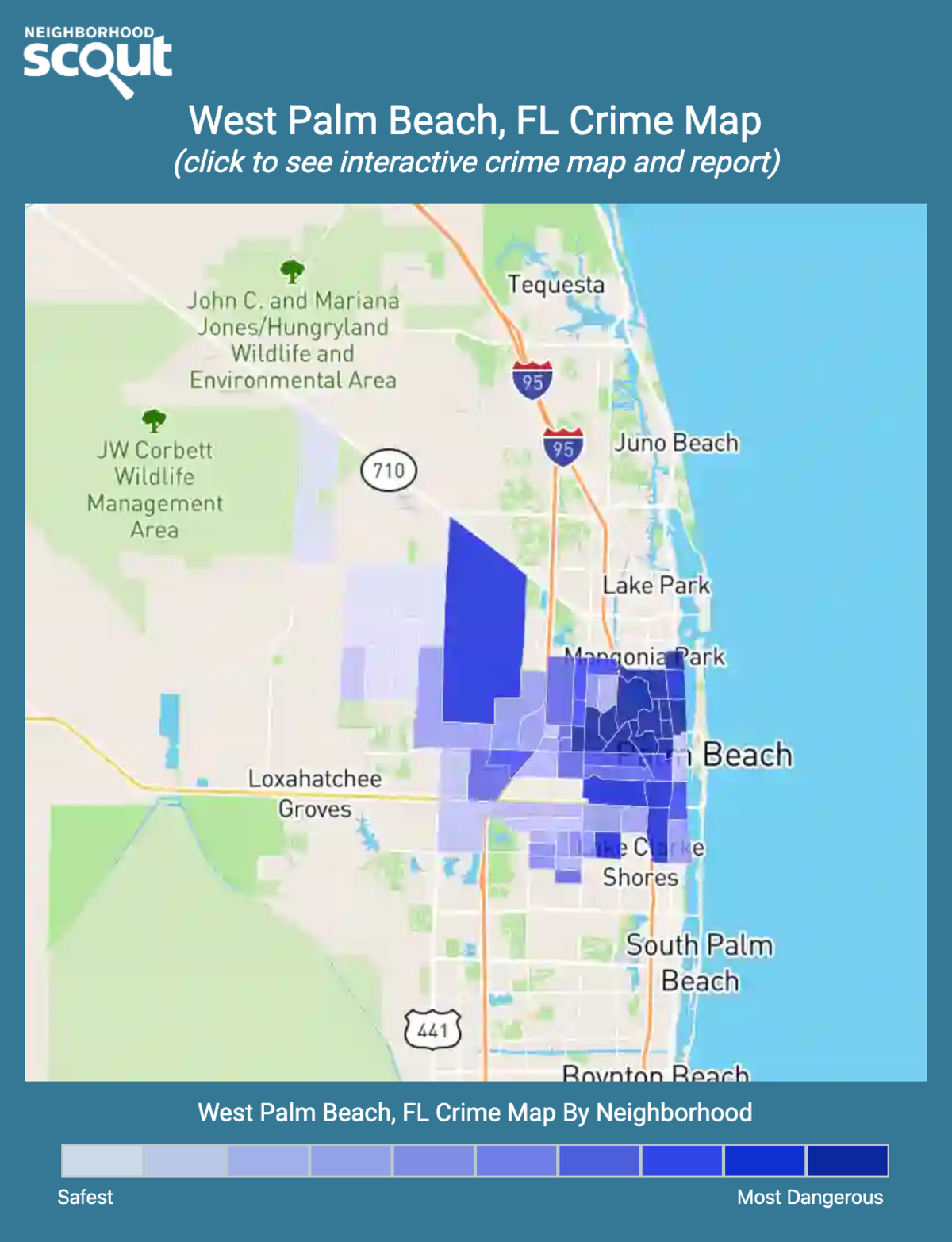 West Palm Beach, Florida crime map