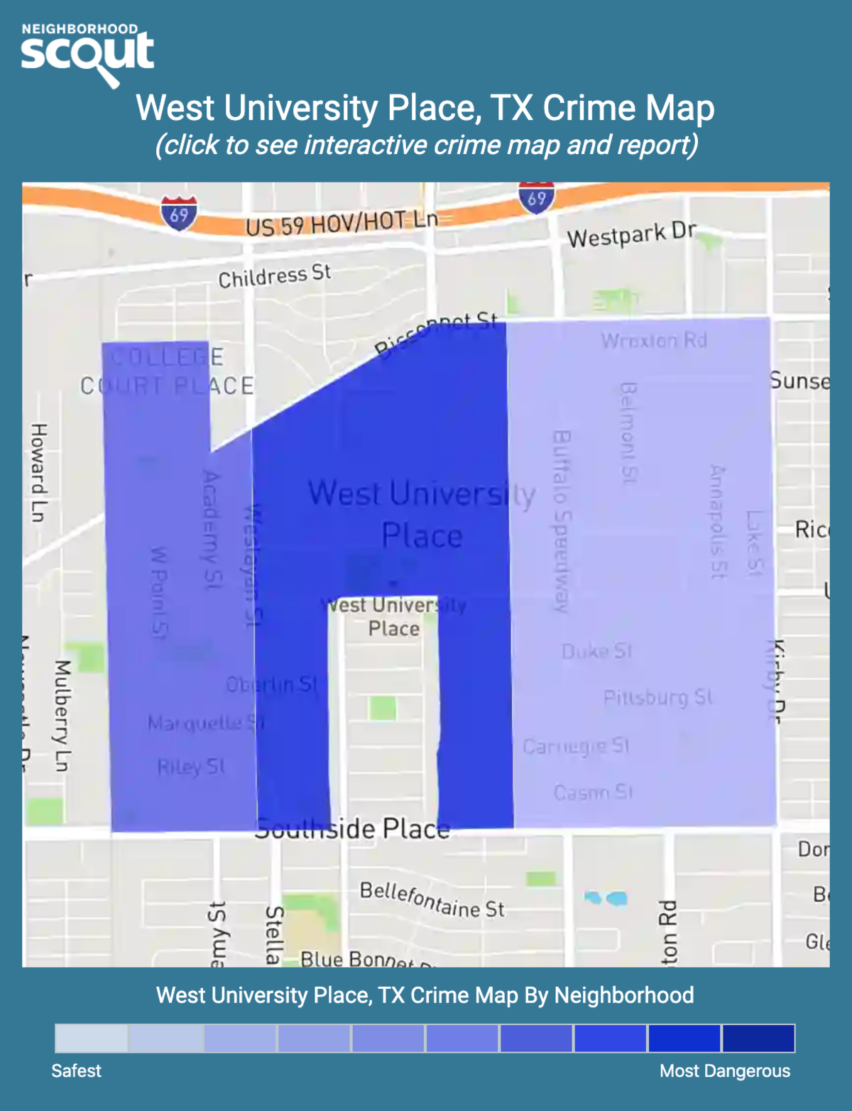 West University Place, Texas crime map