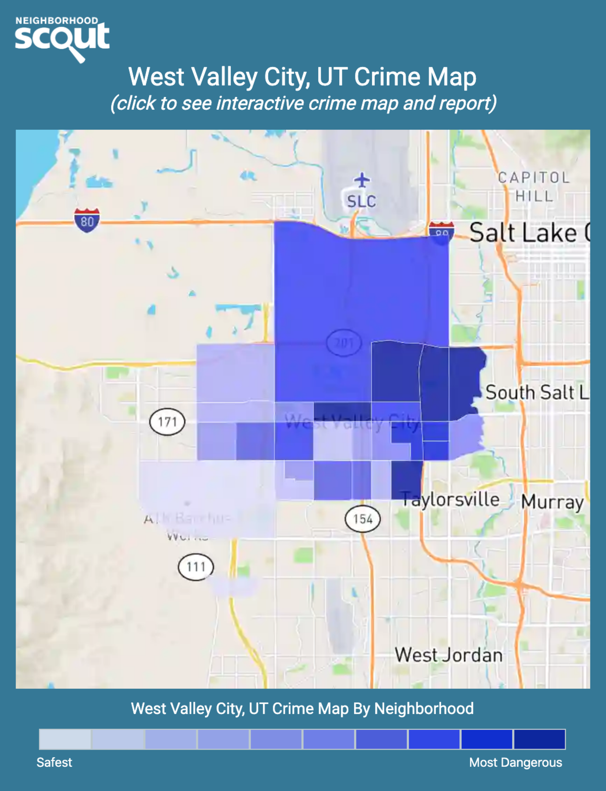West Valley City, Utah crime map
