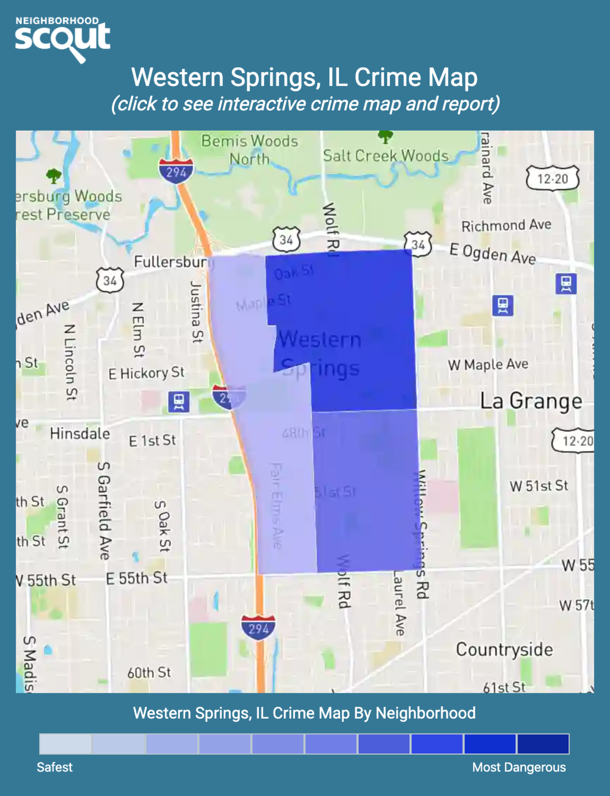Western Springs, Illinois crime map