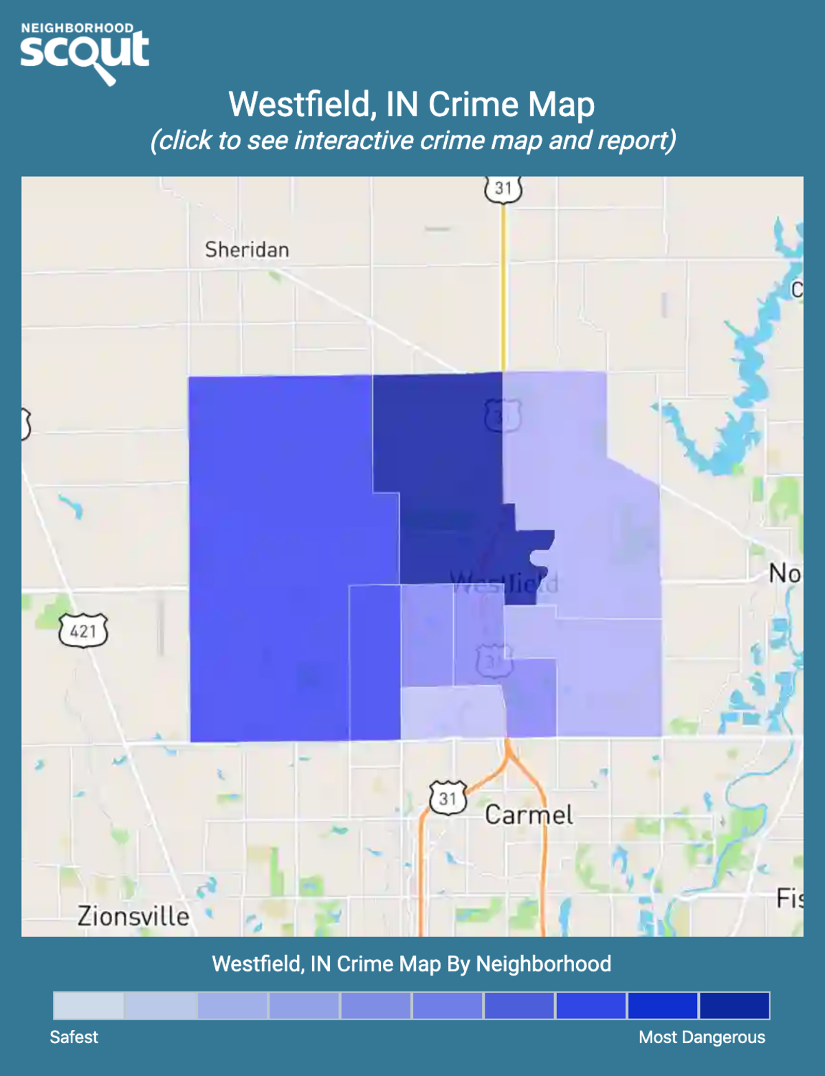 Westfield, Indiana crime map